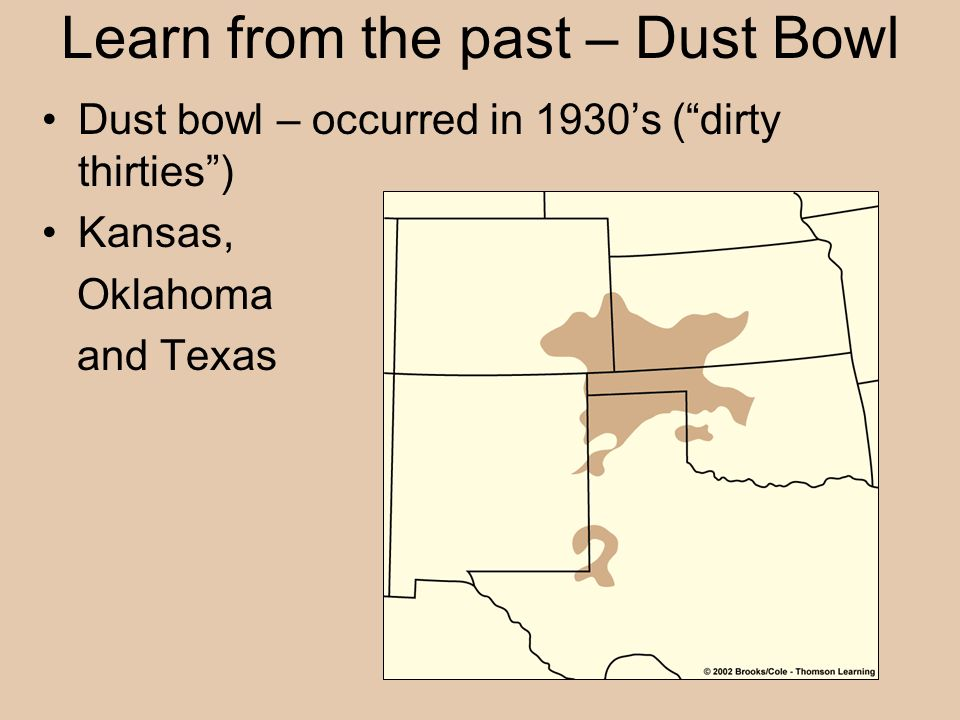 Learn from the past – Dust Bowl