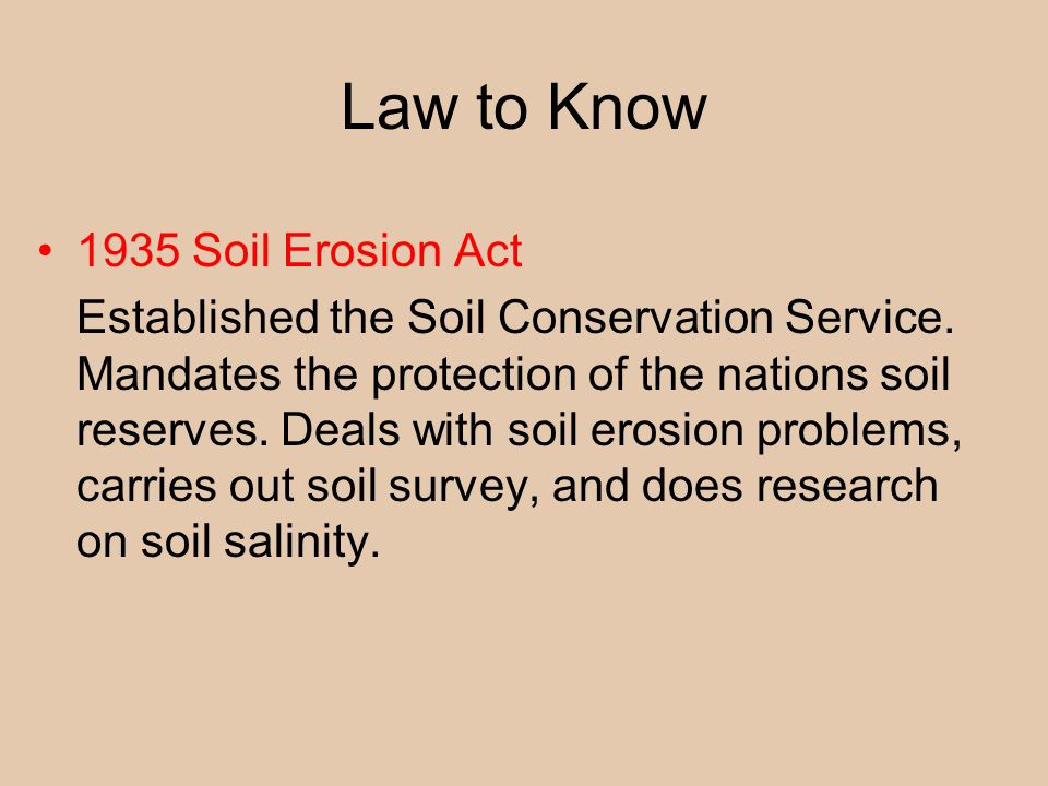Earth systems resources ppt video online download for Soil conservation act