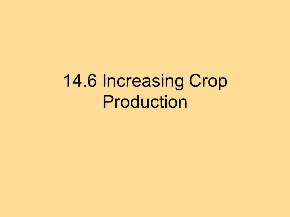 14.6 Increasing Crop Production