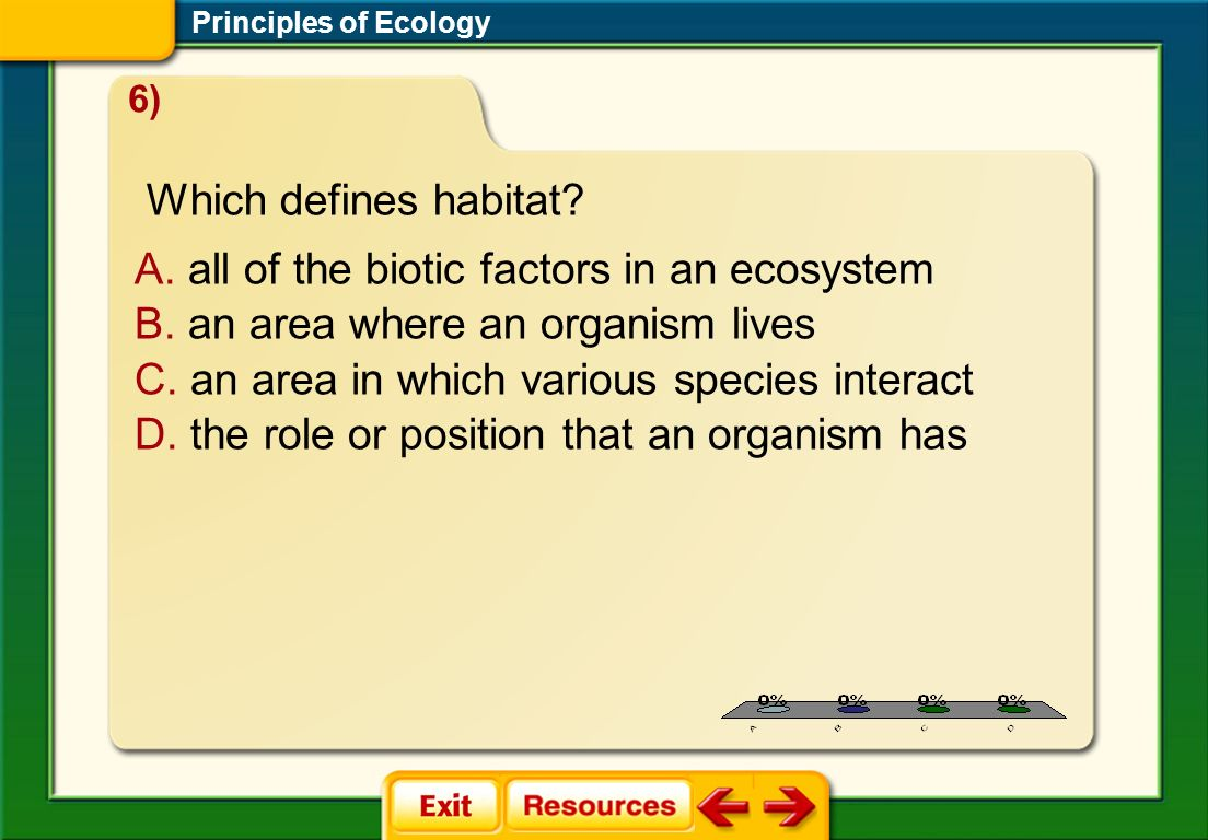 all of the biotic factors in an ecosystem