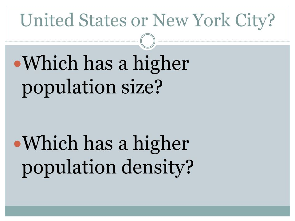 United States or New York City