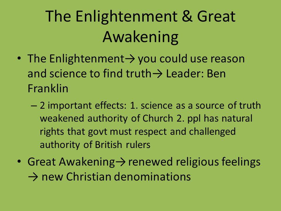 The Enlightenment & Great Awakening