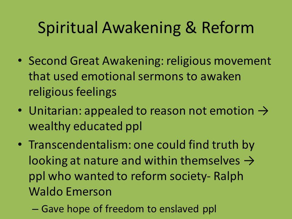 Spiritual Awakening & Reform