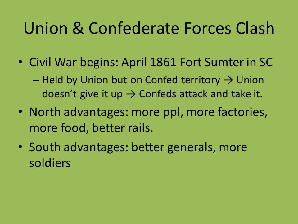 Union & Confederate Forces Clash