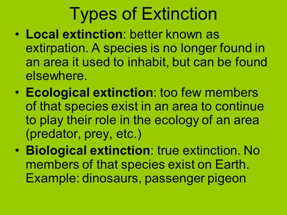 Types of Extinction