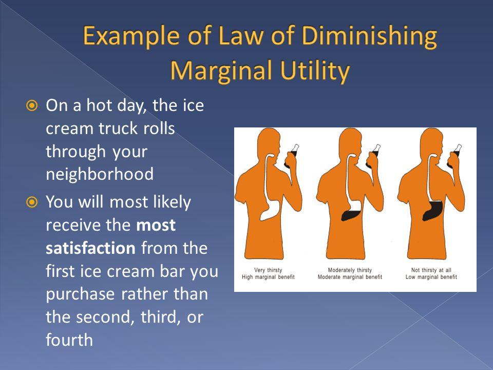 Example of Law of Diminishing Marginal Utility