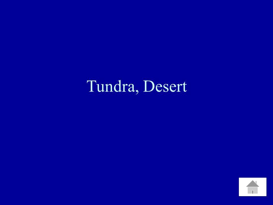 Tundra, Desert