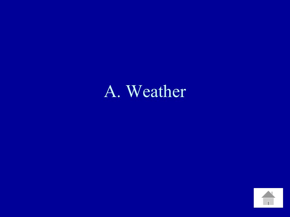 A. Weather
