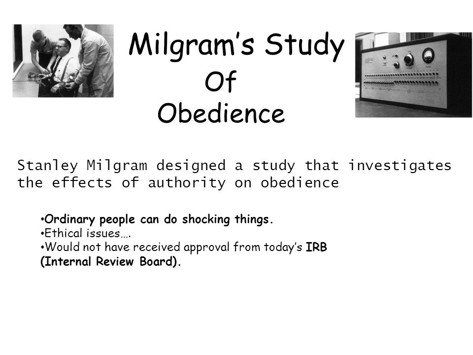 Milgram's Study Of Obedience