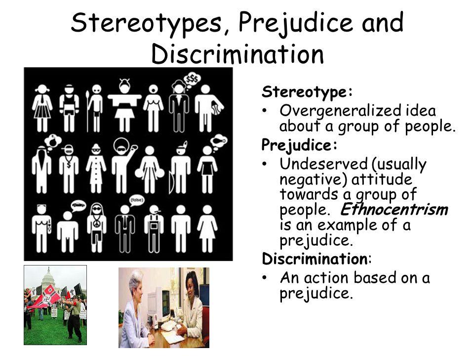 Stereotypes, Prejudice and Discrimination