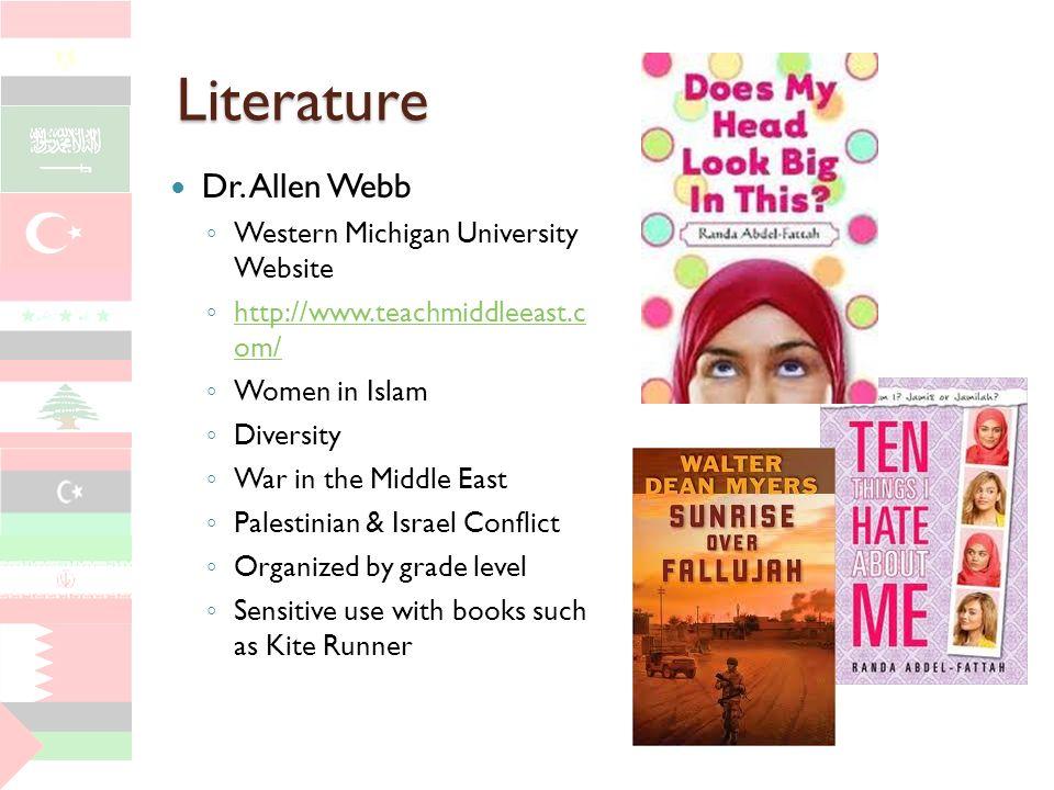 Literature Dr. Allen Webb Western Michigan University Website