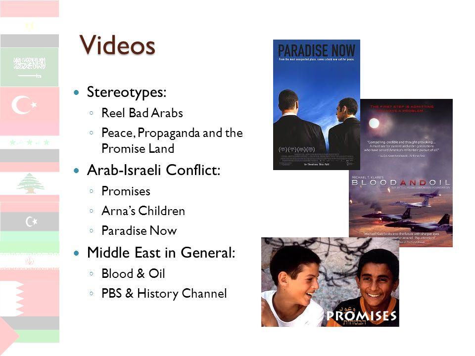 Videos Stereotypes: Arab-Israeli Conflict: Middle East in General: