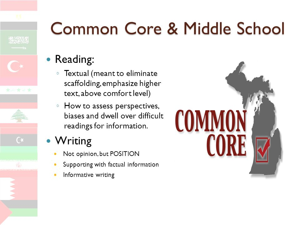 Common Core & Middle School