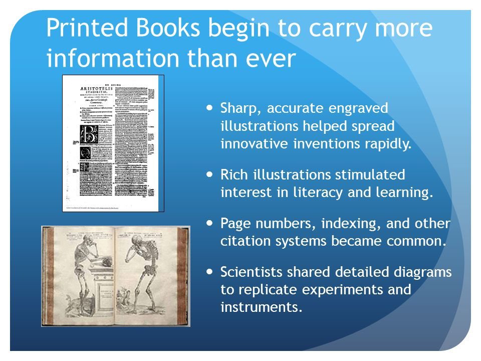 Printed Books begin to carry more information than ever