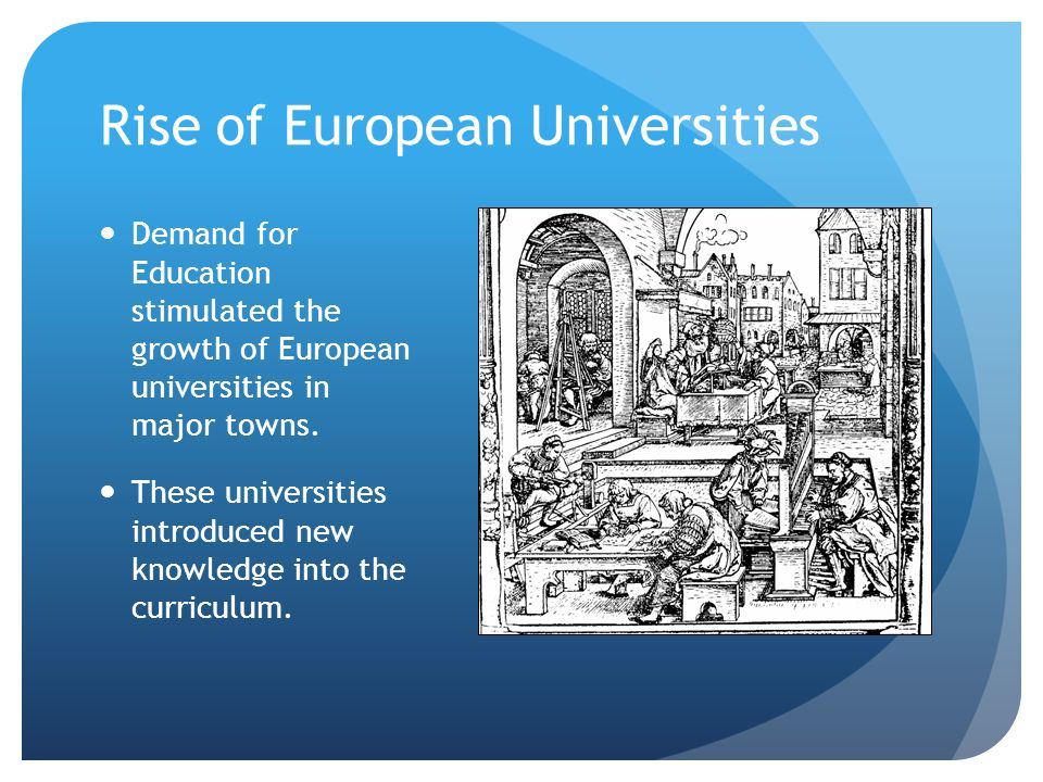 Rise of European Universities