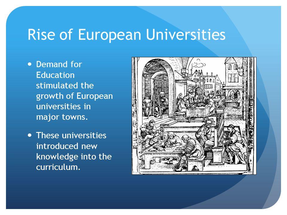 Rise of European Universities