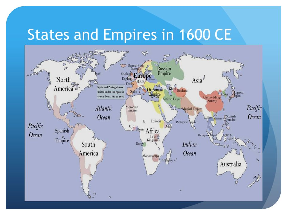 States and Empires in 1600 CE
