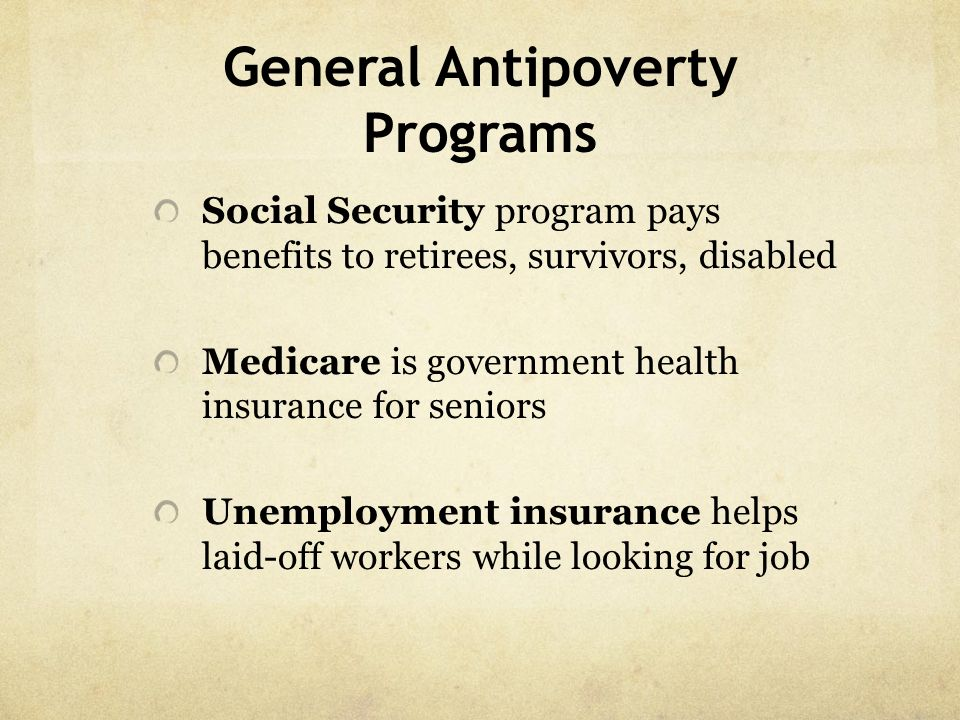 General Antipoverty Programs