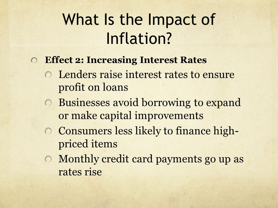 What Is the Impact of Inflation