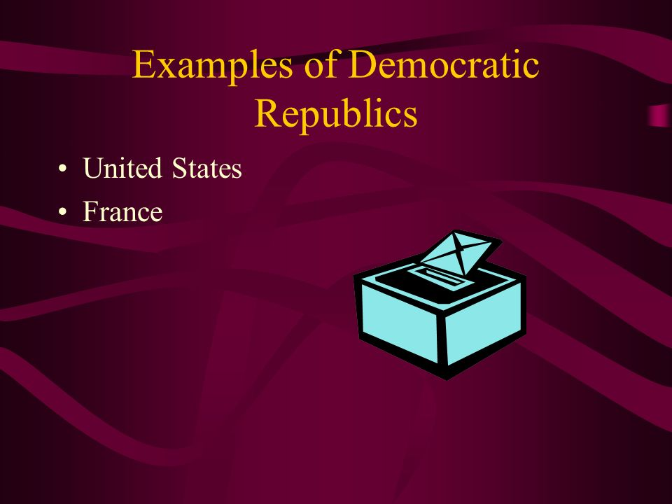 Examples of Democratic Republics