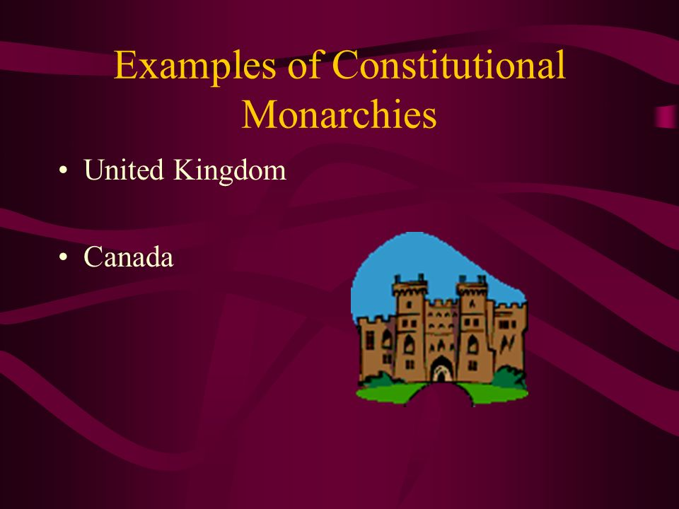 Examples of Constitutional Monarchies