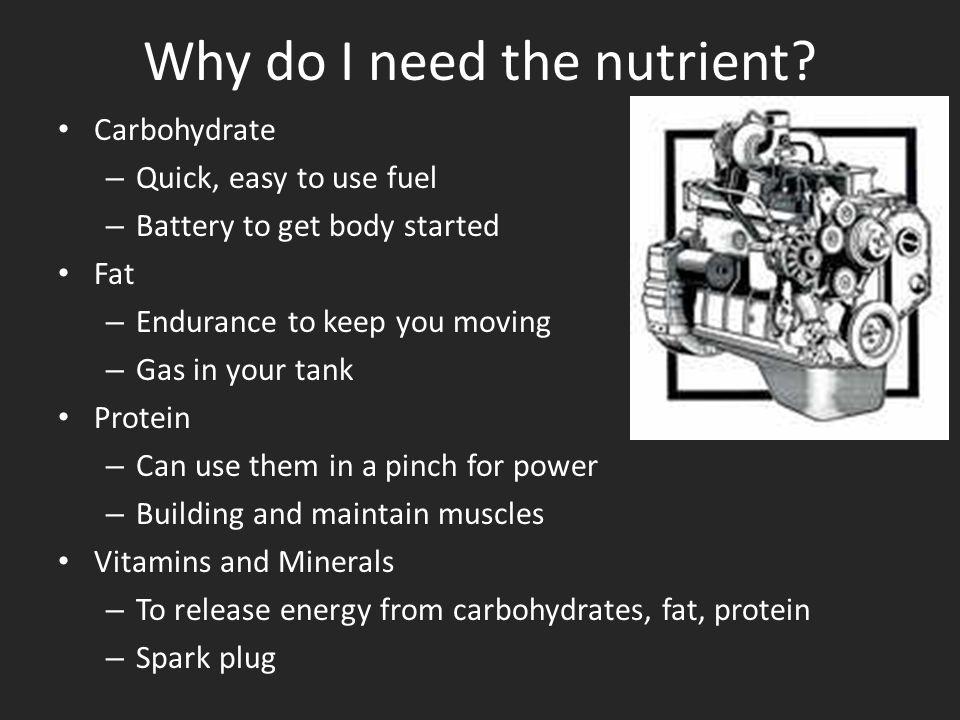 Why do I need the nutrient