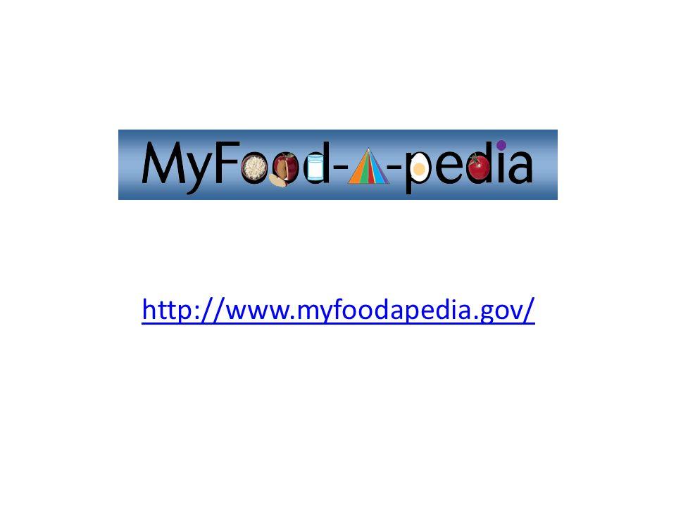 http://www.myfoodapedia.gov/