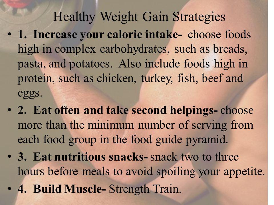 Healthy Weight Gain Strategies