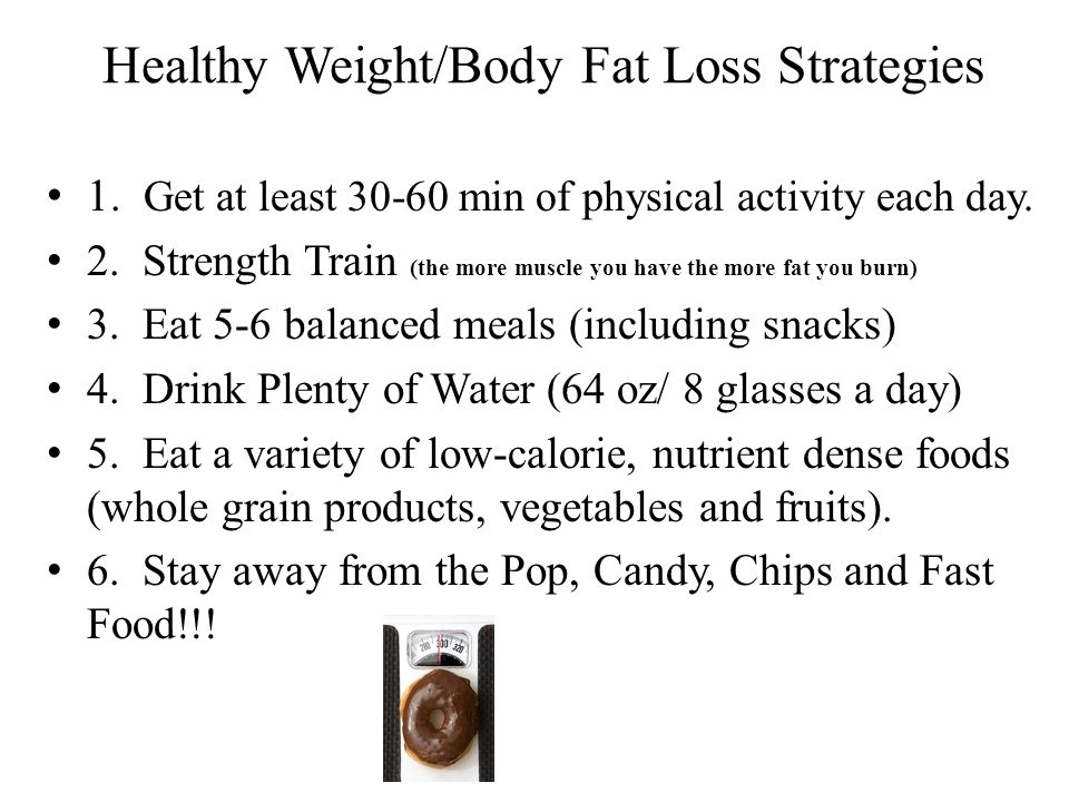 Healthy Weight/Body Fat Loss Strategies