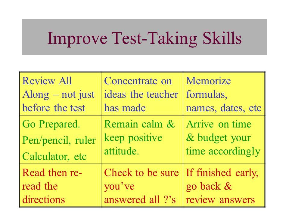 Improve Test-Taking Skills