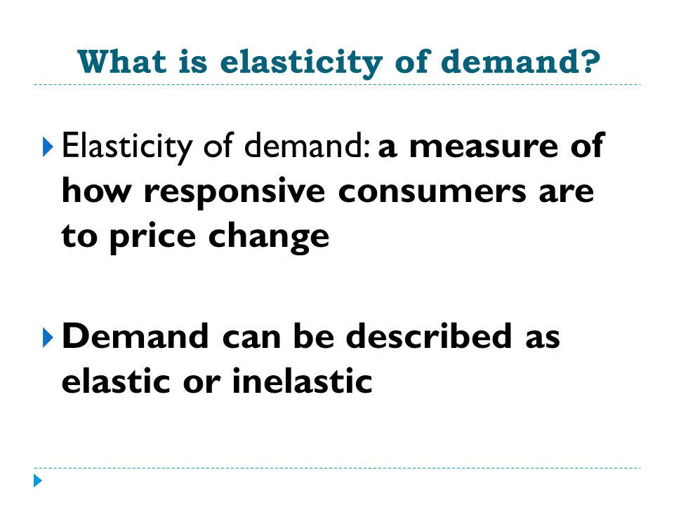 price elasticity of demand essay questions Check out our top free essays on price elasticity of demand and revenue of coffee to help you write your own essay.