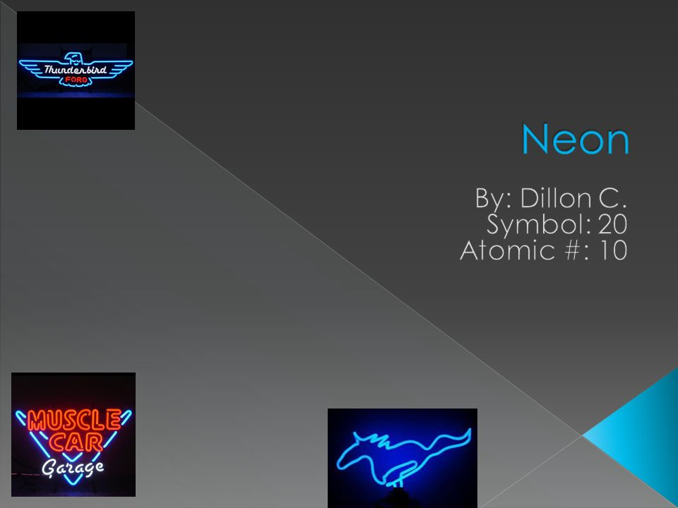 By: Dillon C. Symbol: 20 Atomic #: 10