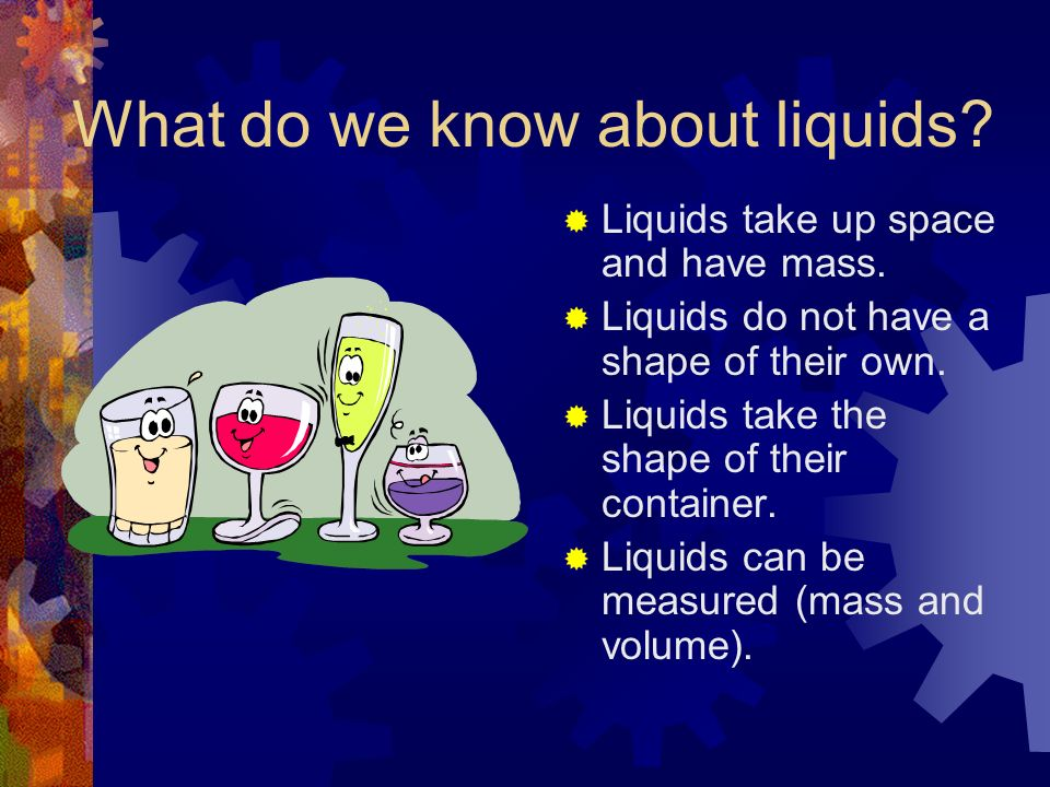What do we know about liquids