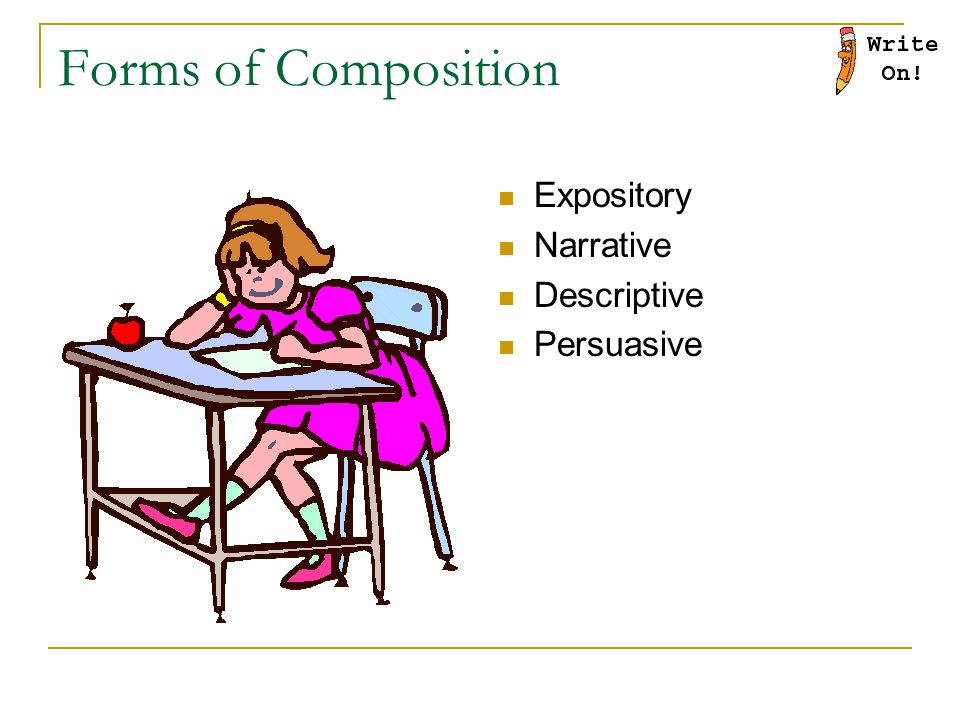 Forms of Composition Expository Narrative Descriptive Persuasive