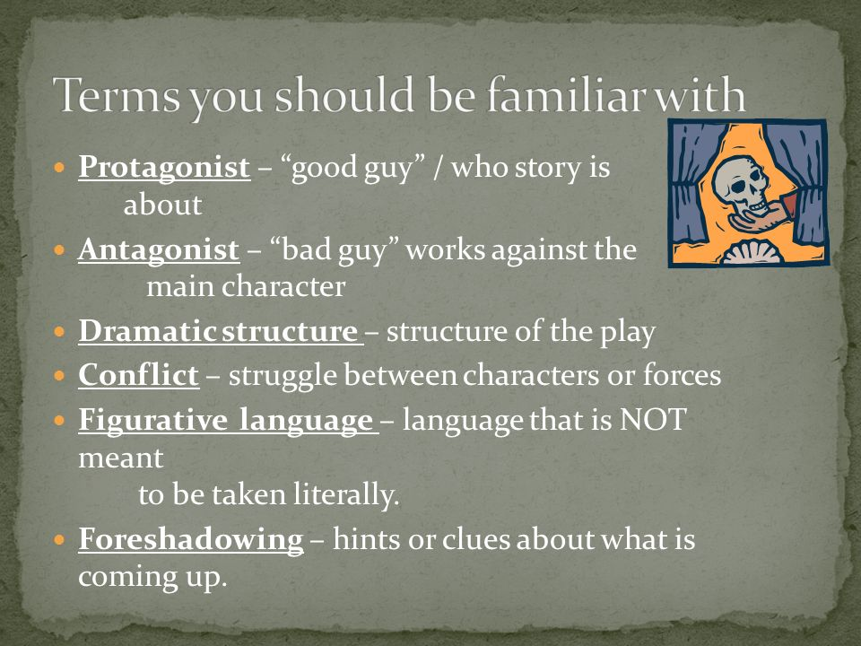Terms you should be familiar with