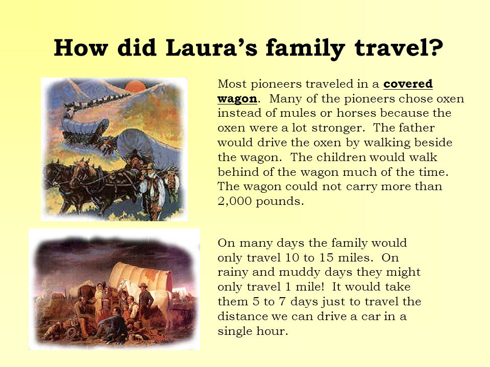 How did Laura's family travel