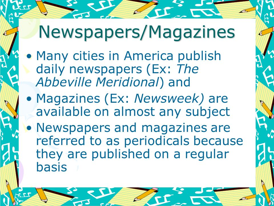 Newspapers/Magazines