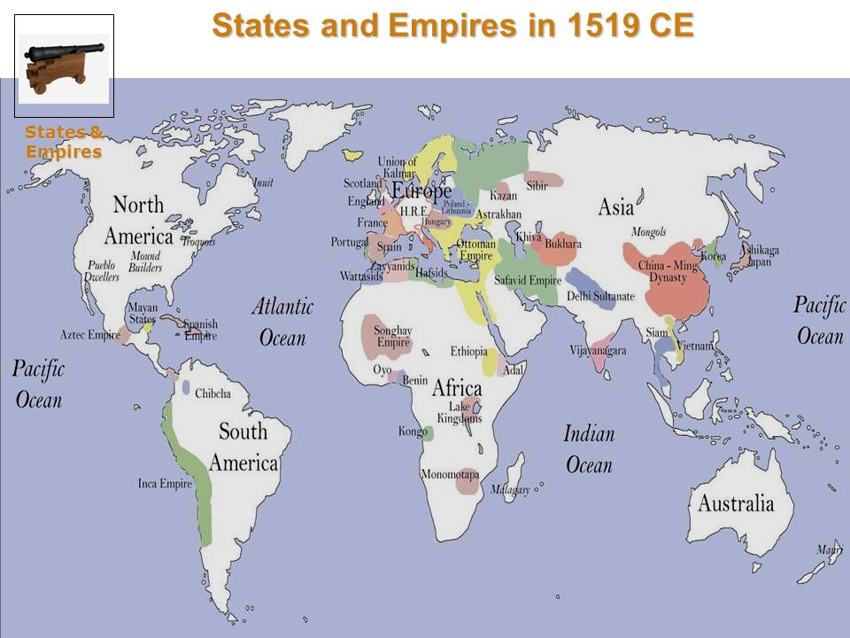 States and Empires in 1519 CE