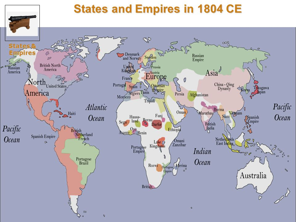 States and Empires in 1804 CE