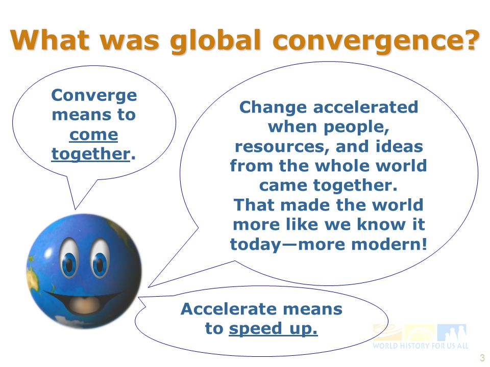 What was global convergence