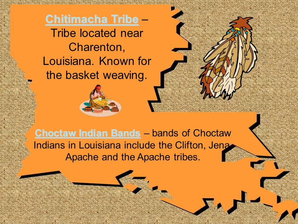 Chitimacha Tribe – Tribe located near Charenton, Louisiana