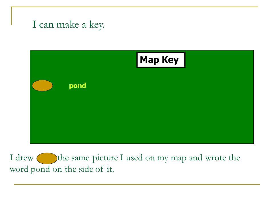 I can make a key. Map Key. pond.