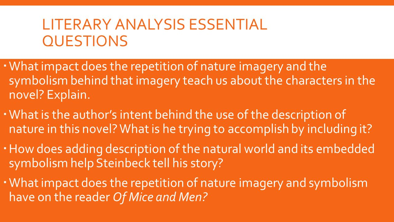 a literary analysis of emotions in of mice and men by steinbeck Steinbeck's ''of mice and men'' john steinbeck was one of the most  analysis we will  the literary background of john steinbeck and of mice.