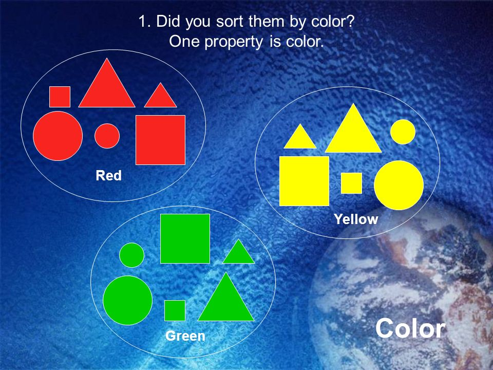 Did you sort them by color