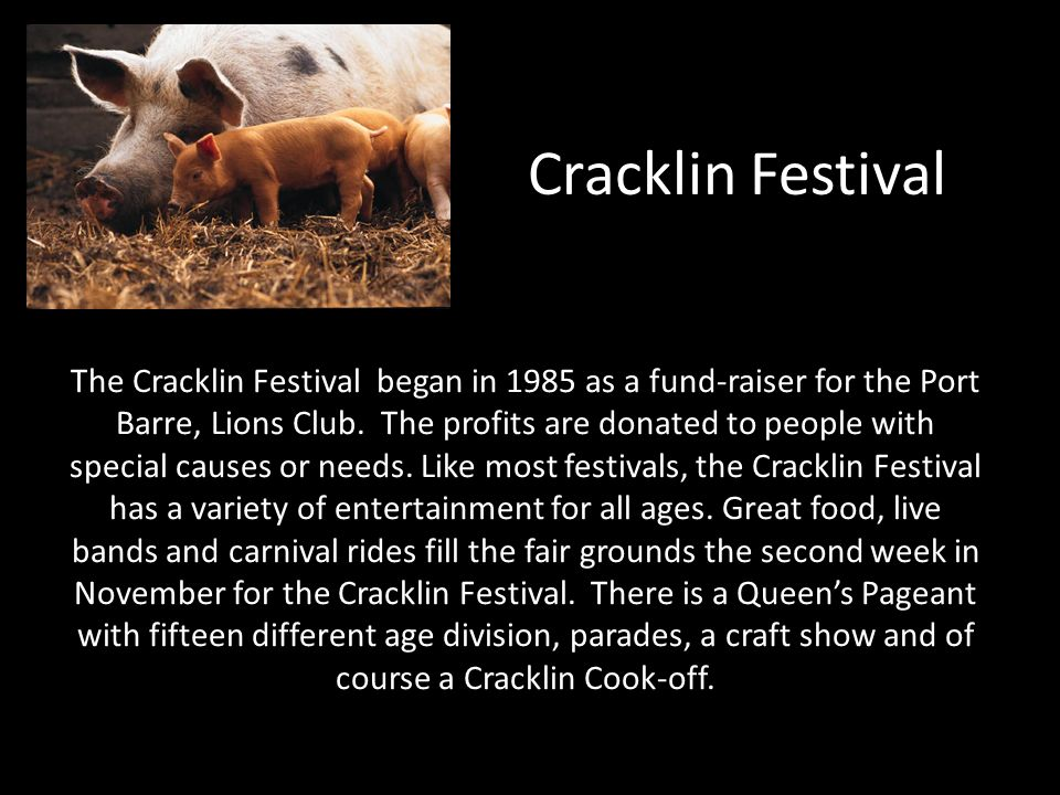 Cracklin Festival