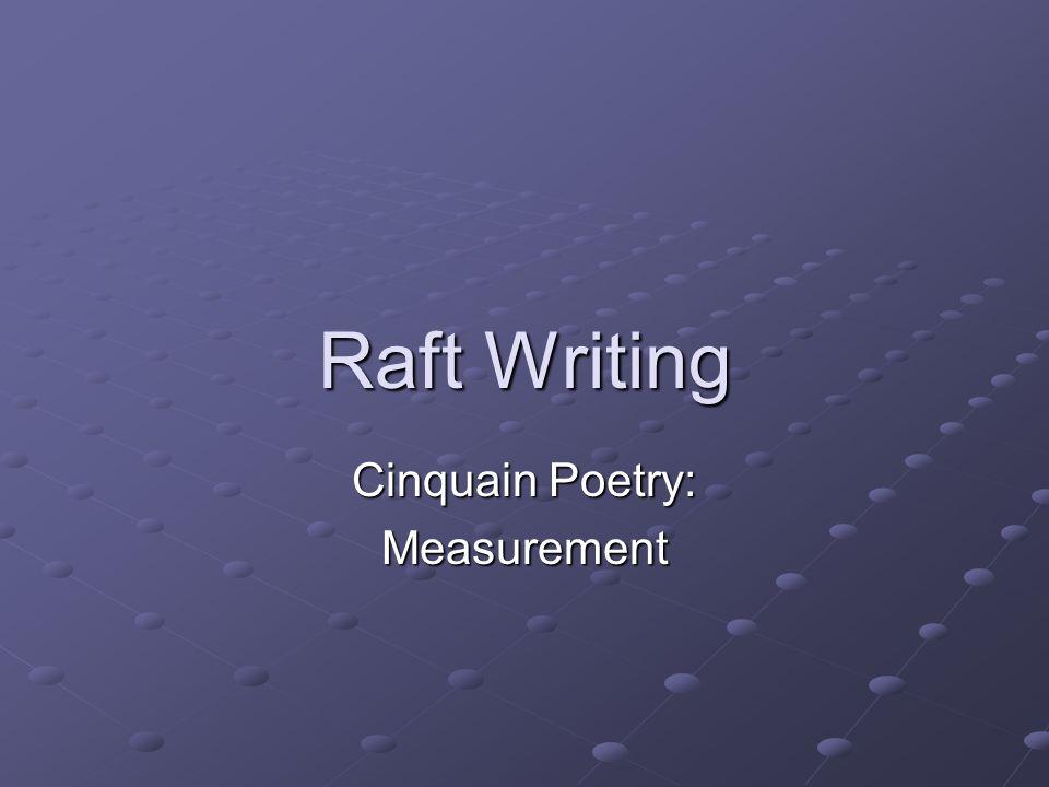 Cinquain Poetry: Measurement