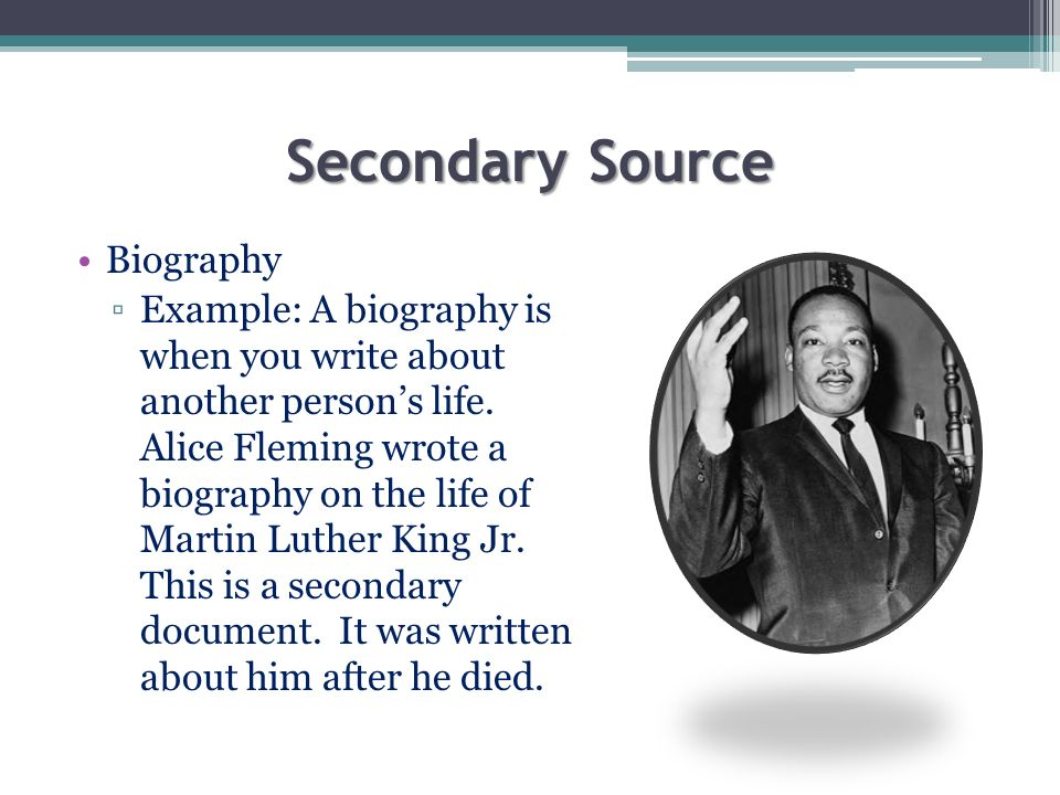 Secondary Source Biography