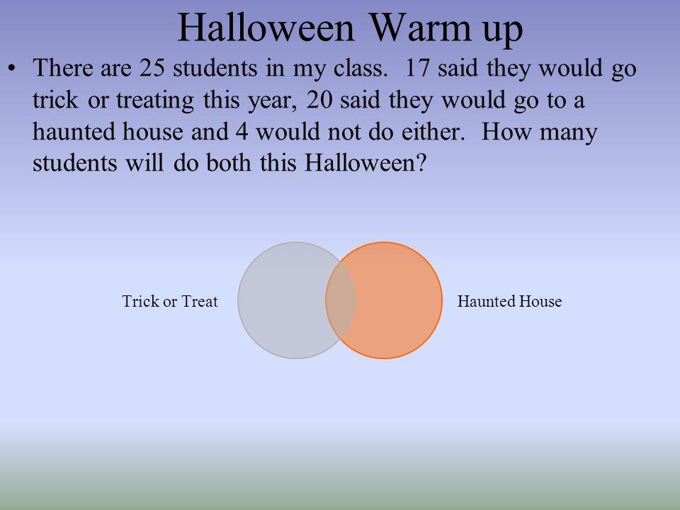 Halloween Warm up