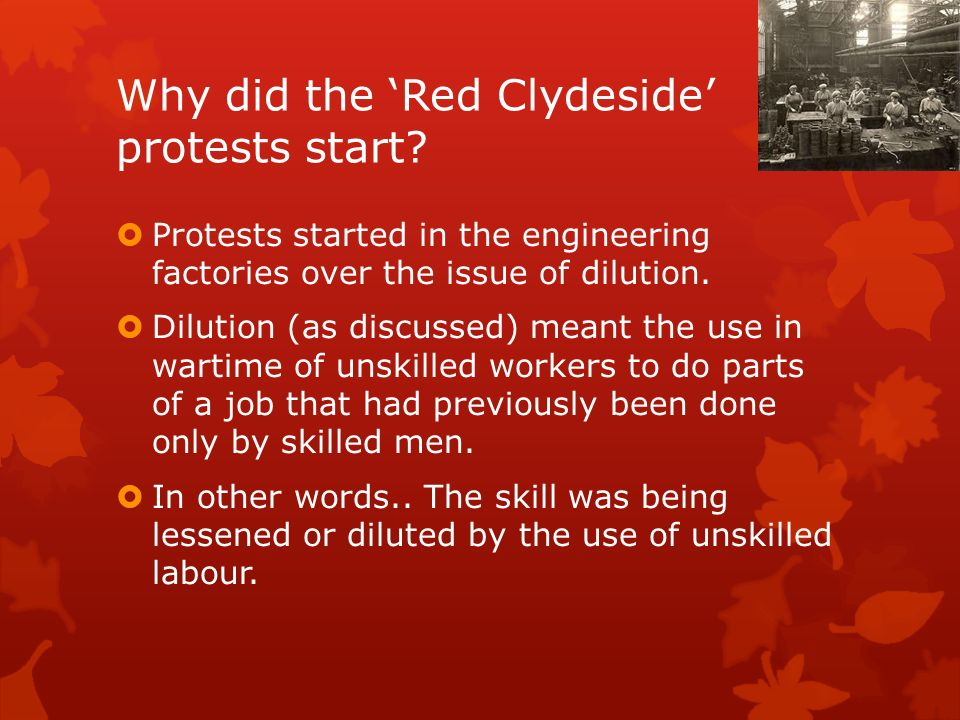 red clydeside Clydeside rent strikes 1915-16 the migration of thousands of workers into  munitions districts in the early months of the first world war put strains on  available.