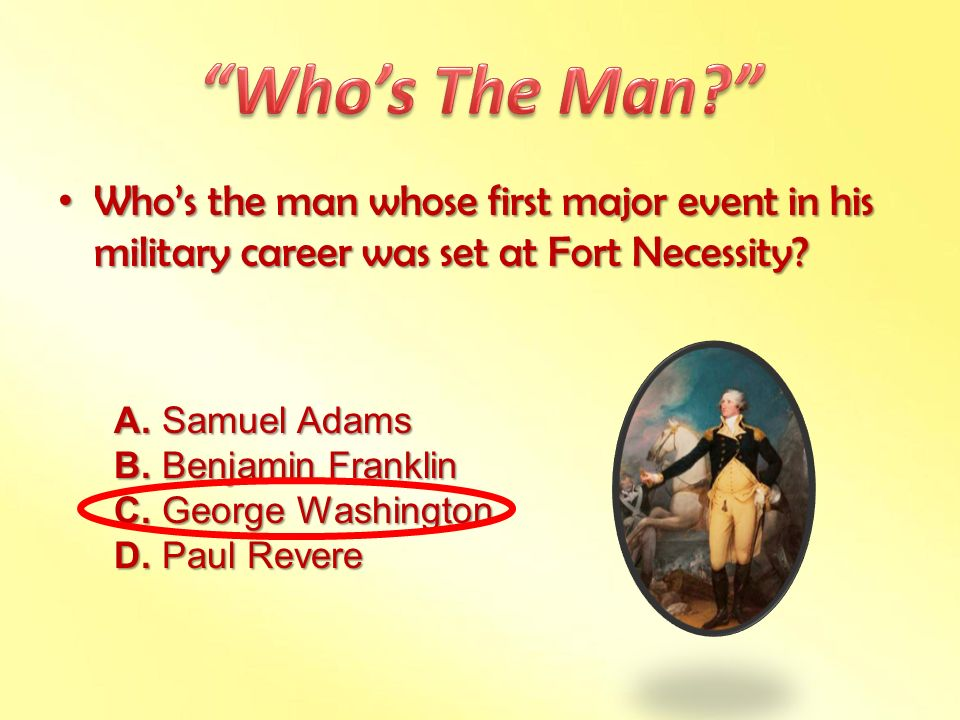 Who's The Man Who's the man whose first major event in his military career was set at Fort Necessity